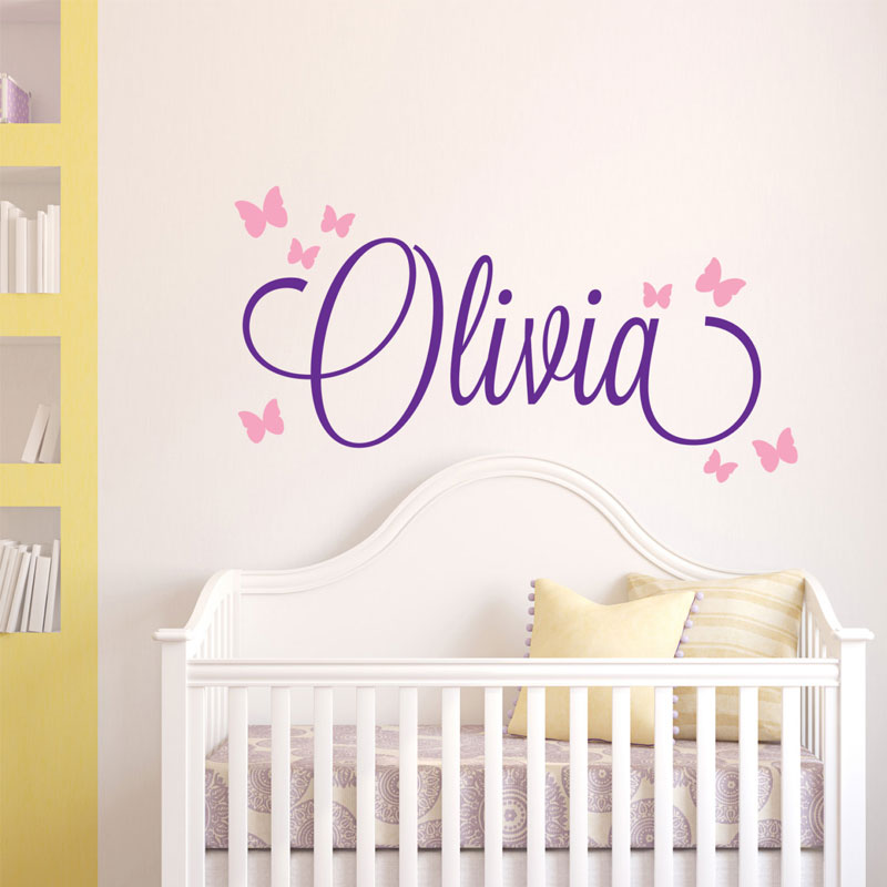 Personalized Kids Name Wall Decal  Nursery Deco