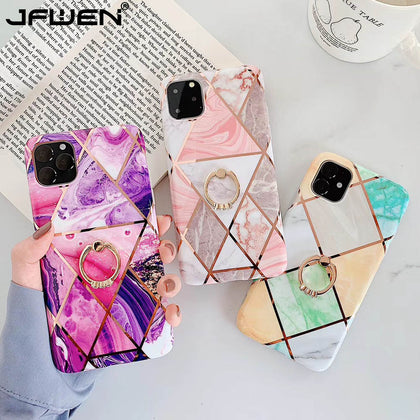 Plating Geometric Marble Silicone Phone Cases For iphone - 99andco
