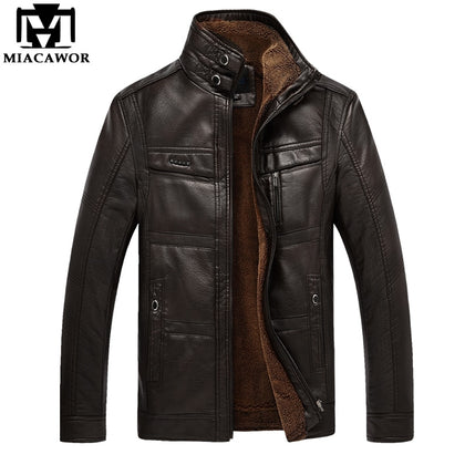 Winter Warm PU Leather jacket - 99andco