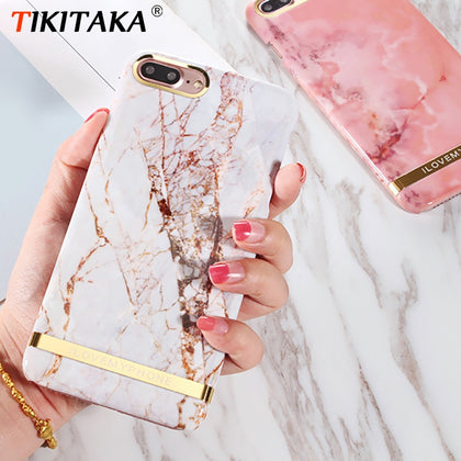 Rose Gold Marble Print Phone Case For iphone - 99andco