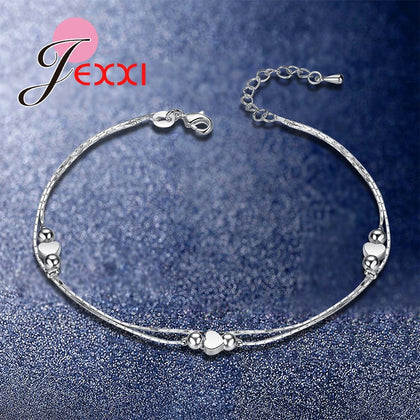 925 Sterling Silver Beads Bracelets & Bangles For Women - 99andco