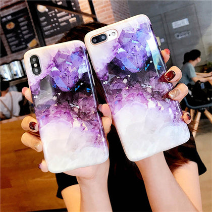 Marble Crystal Phone Case For iPhone - 99andco