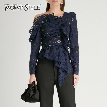 Lace Shirts Blouse Female Long Sleeve - 99andco
