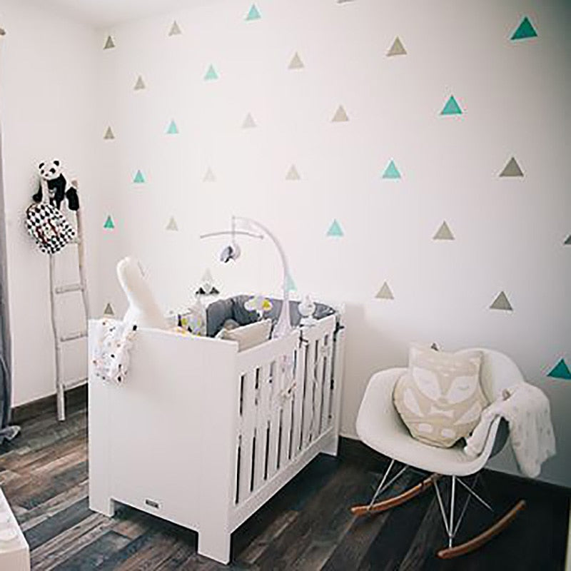 Triangles Wall Sticker For Kids Room