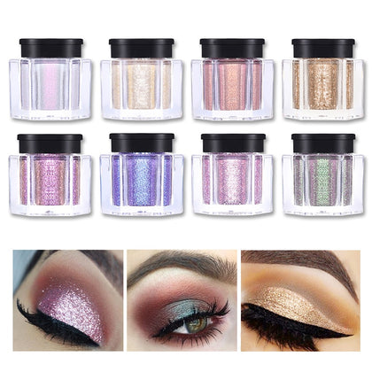 8 Colors Glitter Eye Shadow - 99andco