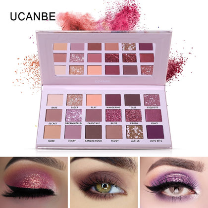 Shimmer Matte Eyeshadow Makeup Palette Long Lasting Waterproof - 99andco