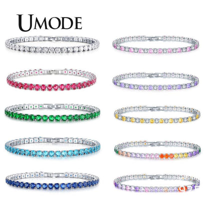 5 Colors Cubic Zircon Tennis Bracelet & Bangles For Women Jewelry 99andco.myshopify.com