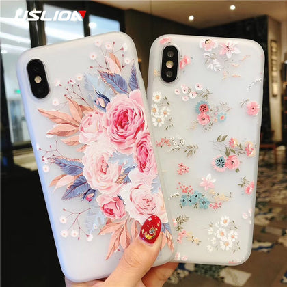 Flower Silicon Phone Case For iPhone - 99andco