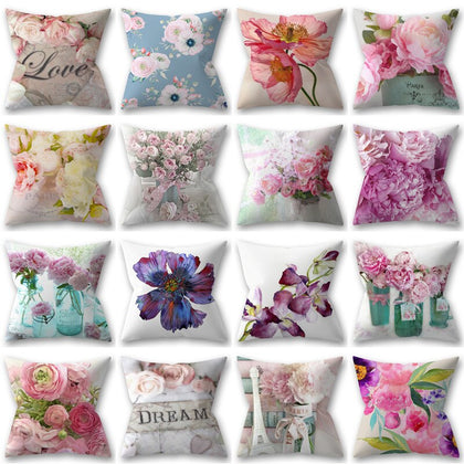 Flower Cushion Cover Floral Pillow Cover - 99andco