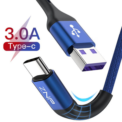 USB Type C Cable For Samsung S10 Huawei P30 Pro Fast Charge Type-C Mobile Phone Charging Wire USB C Cable for Samsung S9 S8 - 99andco