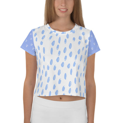 All-Over Print Crop Tee - 99andco