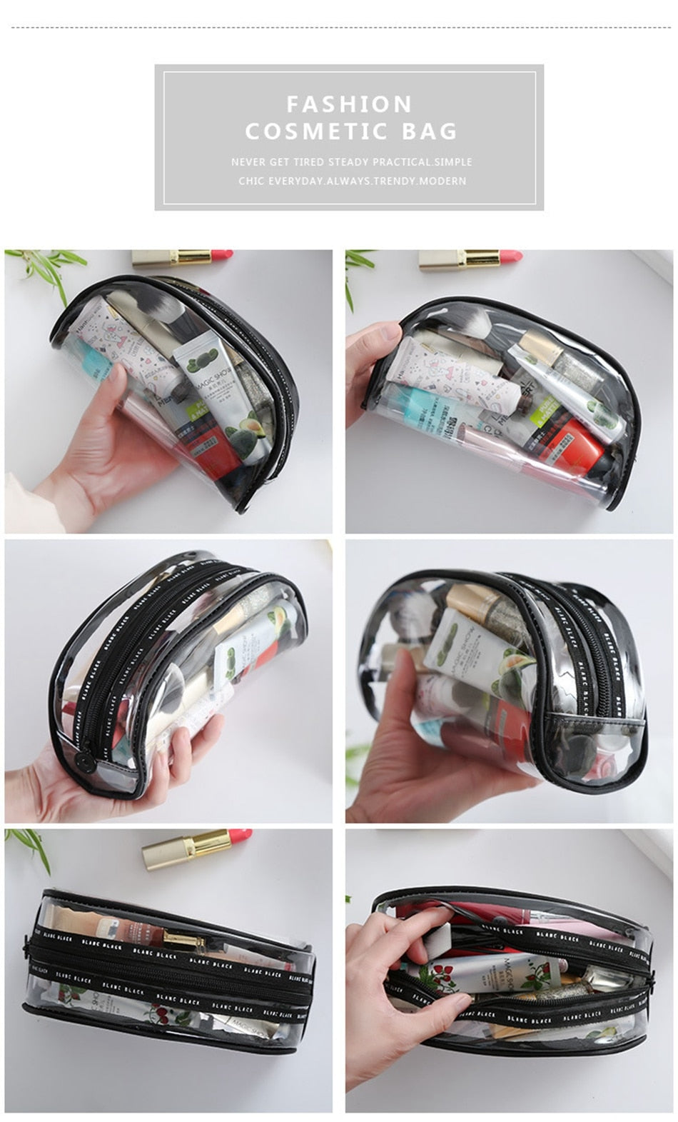 Waterproof Transparent Cosmetic Bag