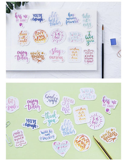 Colored Blessing Words Scrapbooking Stickers - 99andco