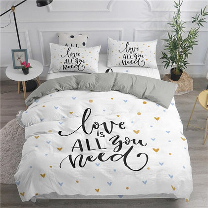 3D Heart Printed Bedding Sets - 99andco