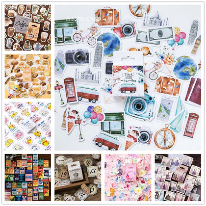 Vintage Travel Boxed Stickers DIY Scrapbooking - 99andco