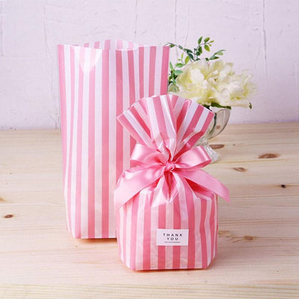 10Pcs Stripe Candy Bag Gift Bags - 99andco