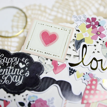 52pcs Love Die Cut Stickers for Scrapbooking - 99andco