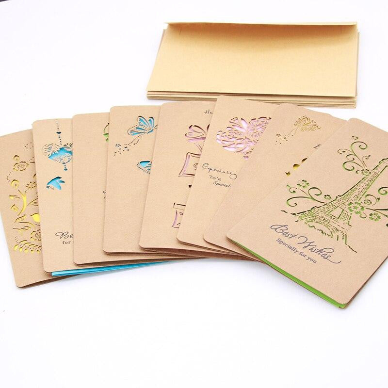 1 Set of Retro Greetings Cards