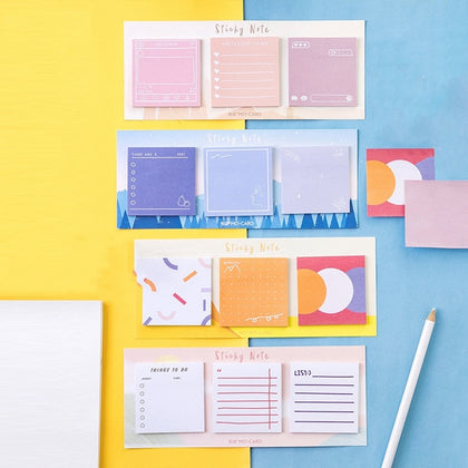 Sticky notes / Memo pad set - 4 - 99andco