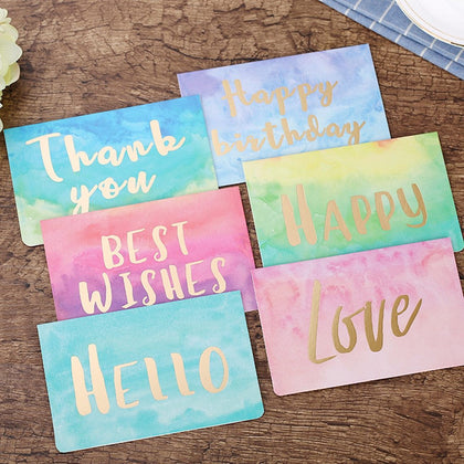 1pc Watercolor Folding Message Card - 99andco