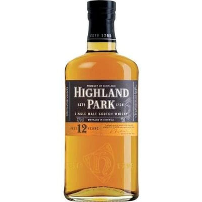 Highland Park - 12 Year Old Single Malt - Spirits