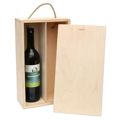 Pine Gift Box - 2 Bottles - gift_wrapping