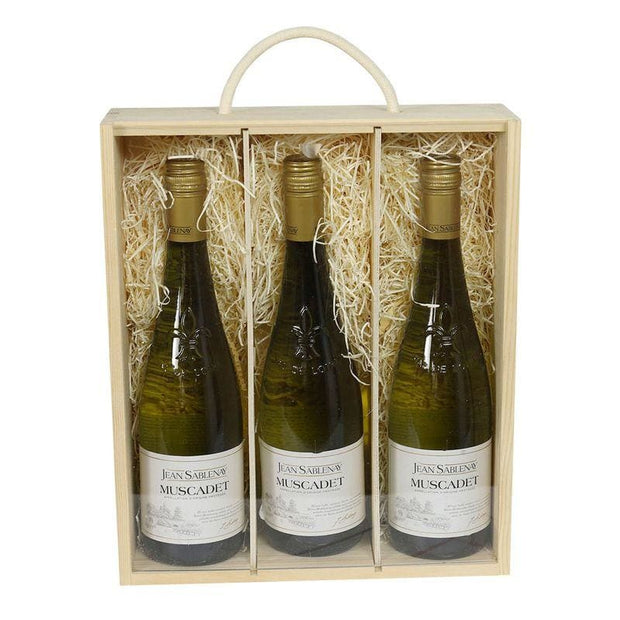 Pine Gift Box - 3 Bottles - gift_wrapping