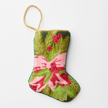 Load image into Gallery viewer, Wreath and Bow Needlepoint Stocking
