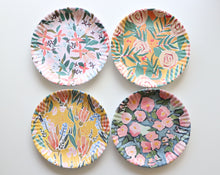 "Load image into Gallery viewer, Funky Floral ""Paper"" Plates"