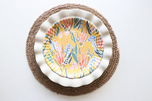 "Funky Floral ""Paper"" Plates"