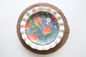 "Fruit and Floral ""Paper"" Plates"