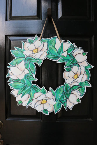 Magnolia Wreath Door Hanger