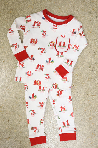 12 Days of Louisiana Christmas Organic Cotton Pajama Set