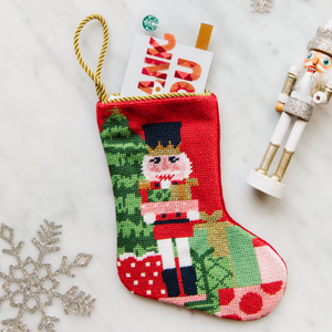 Classic Nutcracker Needlepoint Stocking