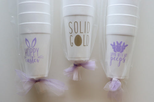 Easter Cups, set of 10