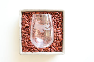 Nola Couture Stemless Wine Glass