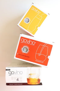 Govino Go Anywhere Red Wine, set of four