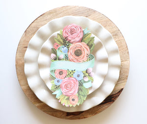 Spring Floral Table Accent
