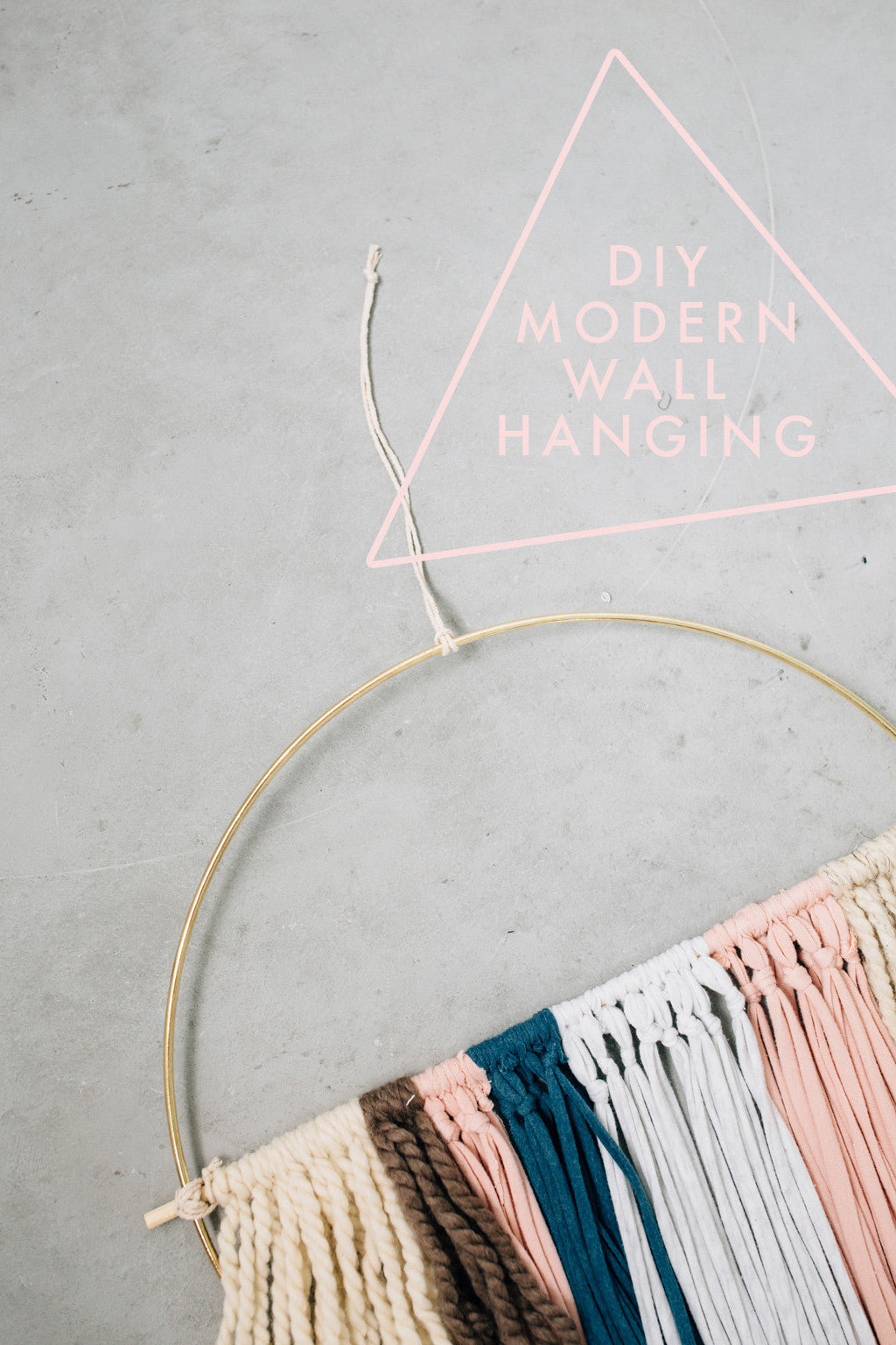 DIY Modern Wall Hanging!