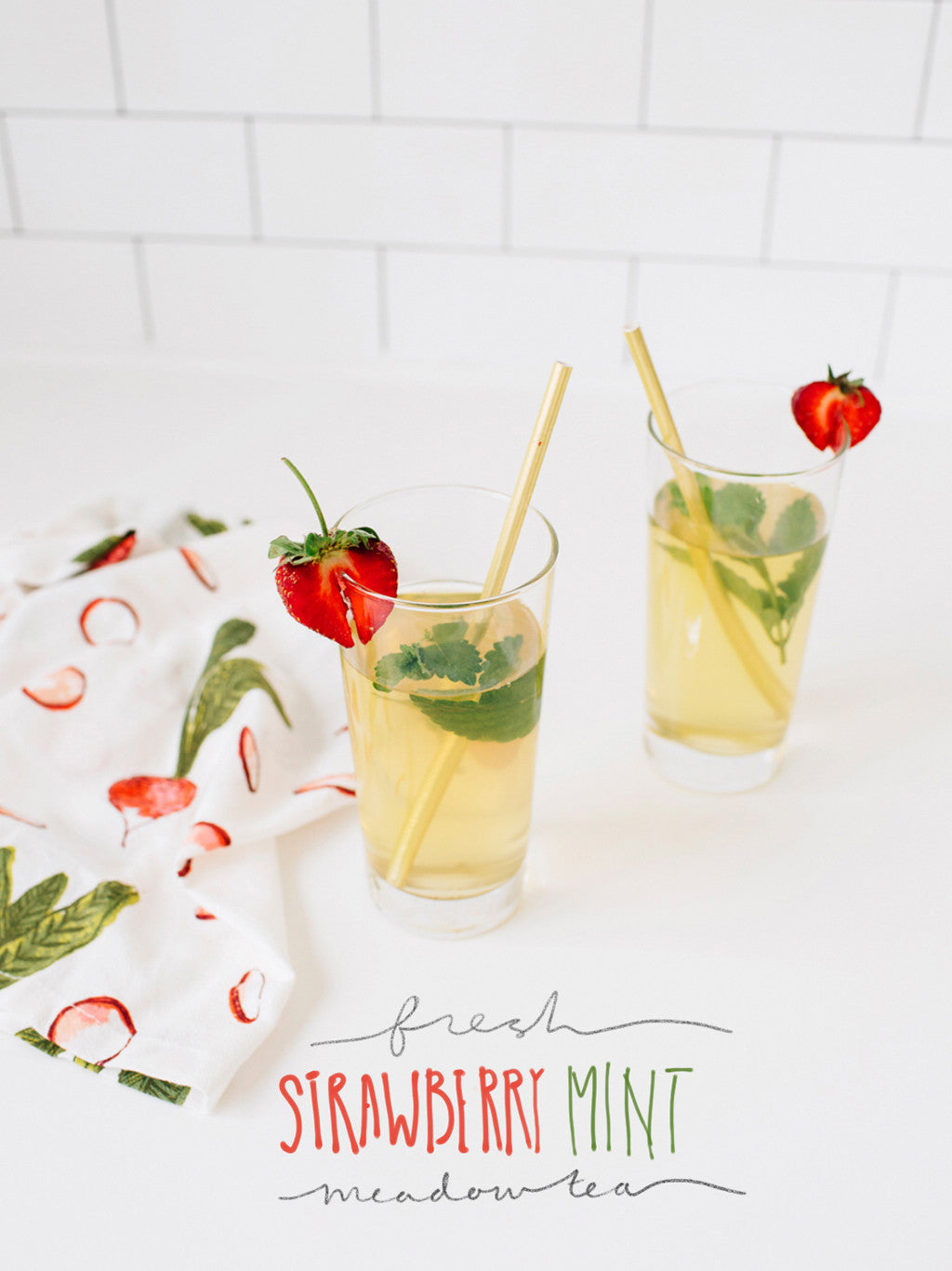 Fresh Strawberry Mint Meadow Tea
