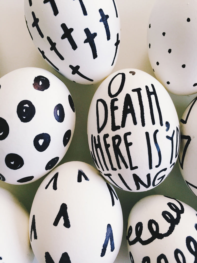 DIY Sharpie Easter Eggs via walk in love.