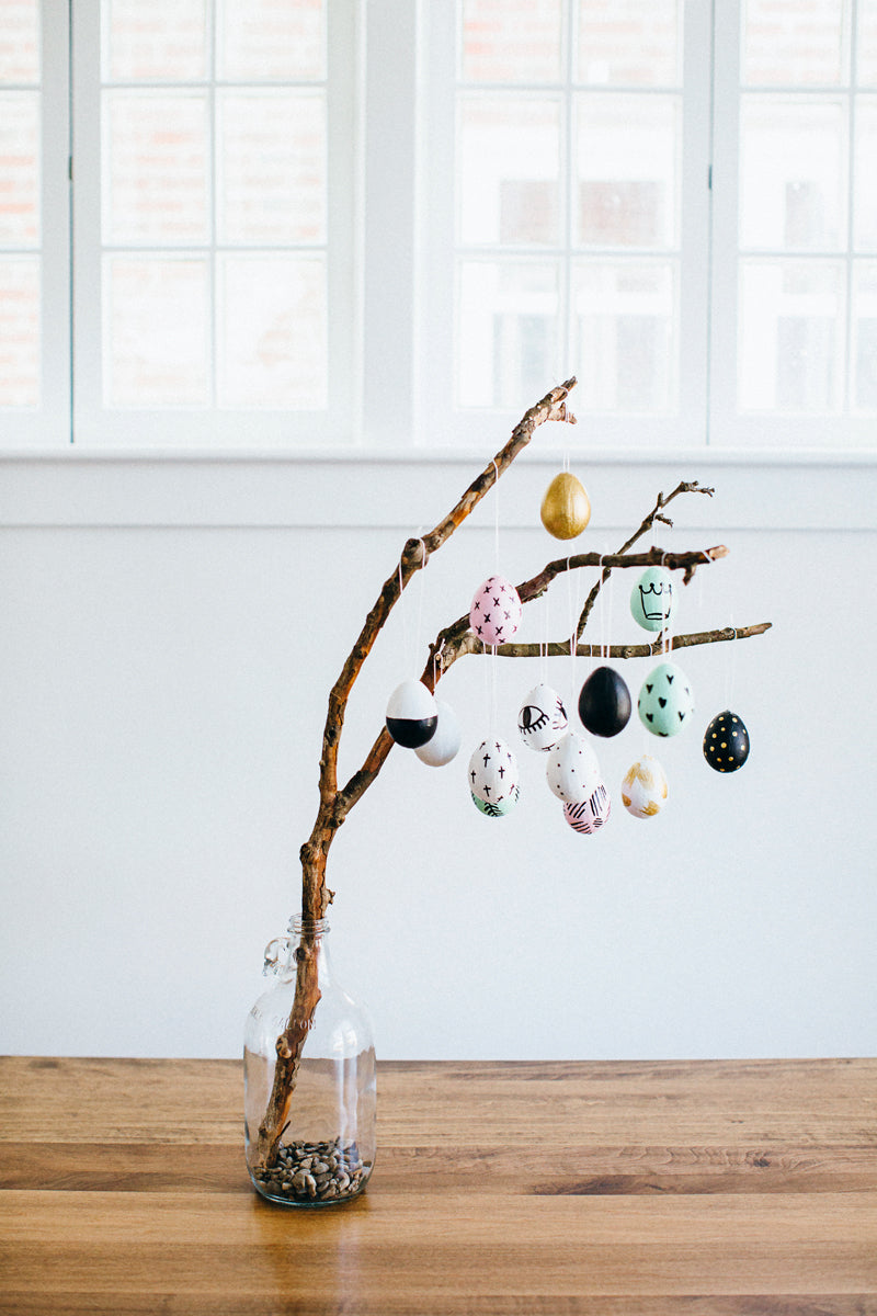 DIY Easter Egg Tree via walk in love. A new tradition to remind your family about the miracles of Jesus surrounding Easter.
