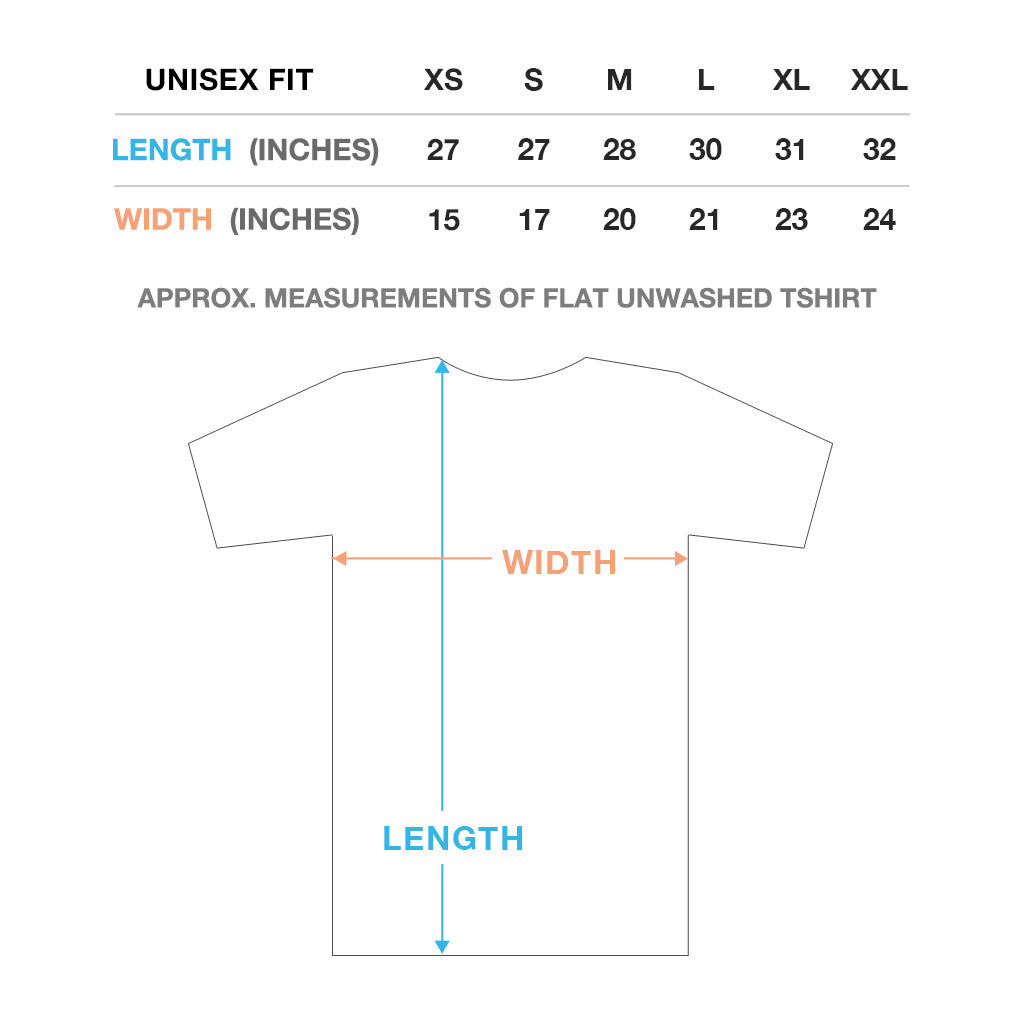 Unisex/Men's T-Shirt Sizing Chart // walk in love.