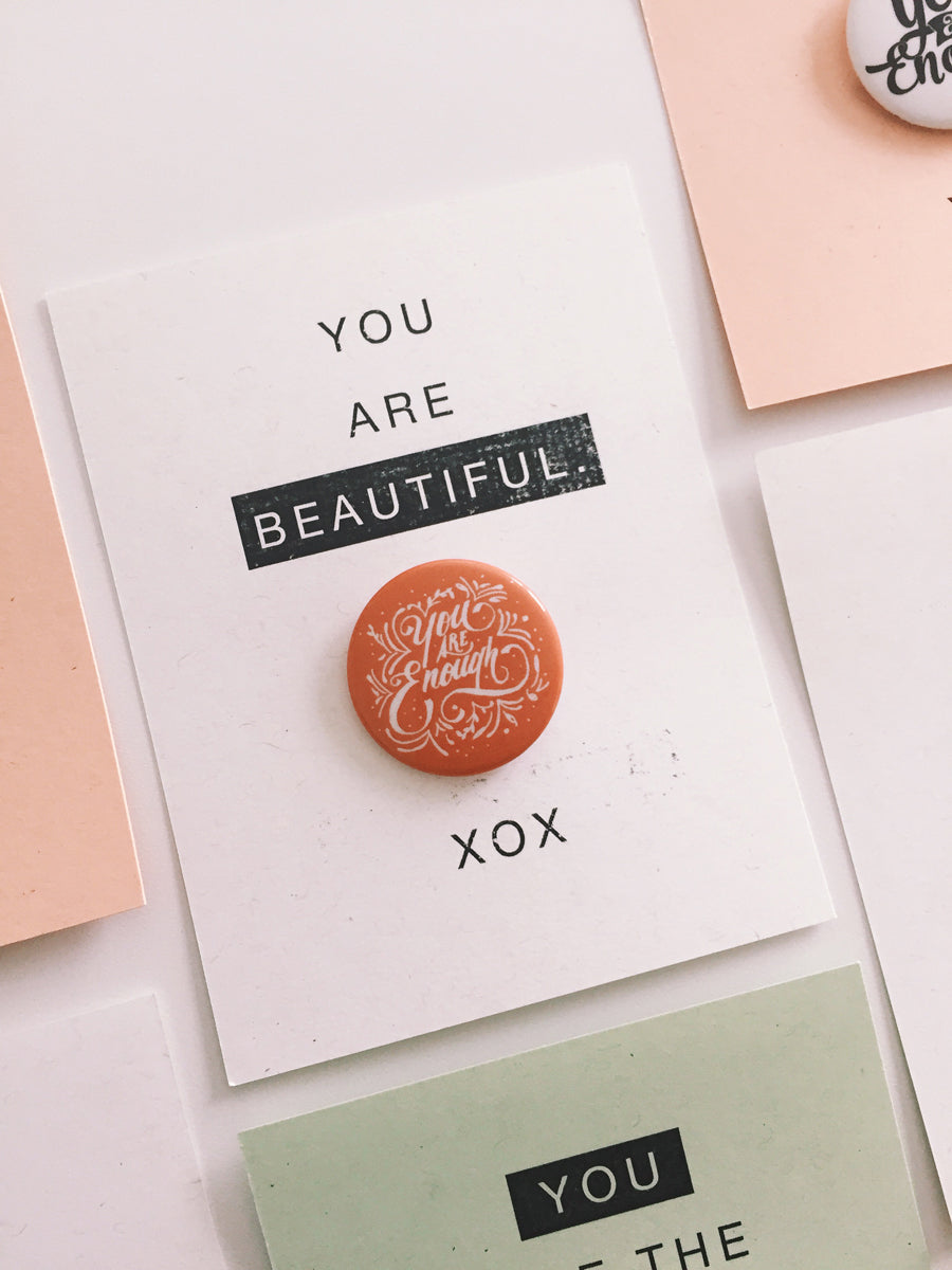 Free Printable Valentine's Day Button Bling Cards via walk in love.