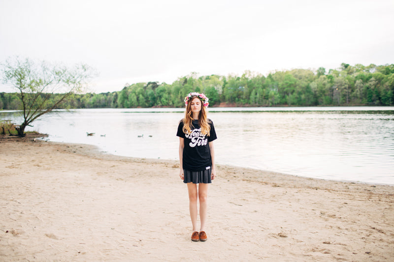Shine Collection Lookbook via walk in love. / Summer camp vibes and vintage tees!