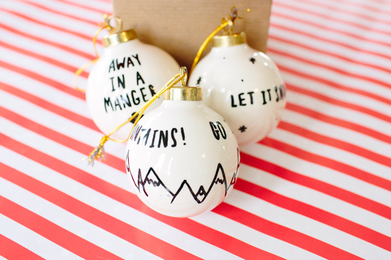 Choose your favorite hymn or Christmas jingle and go to town! This adorable  ornament will make a great addition to your own Christmas tree or you can  give ... - DIY // Sharpie Christmas Ornaments €� Walk In Love.