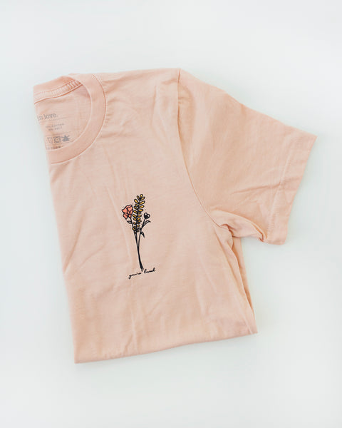 You're Loved Bouquet Heather Peach T-Shirt