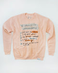 5 Things To Remember Peach Pullover Sweatshirt