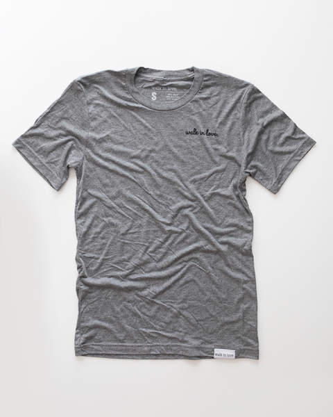 Walk in love. gray T-Shirt