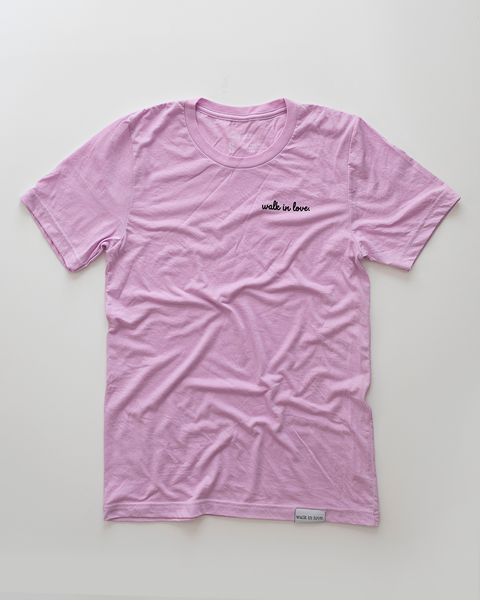 Walk in love. lilac T-Shirt
